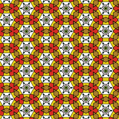 pattern hexagons red