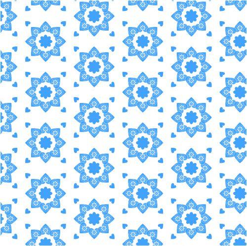 pattern blue flower