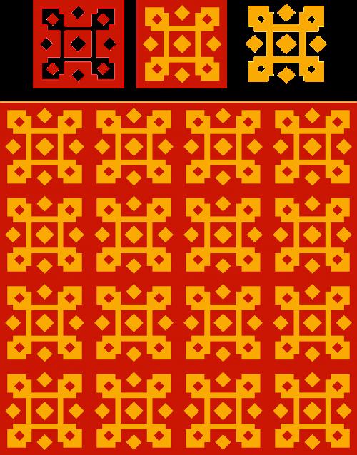 pattern red yellow