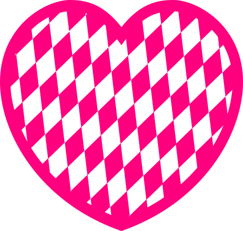 pattern heart diamond