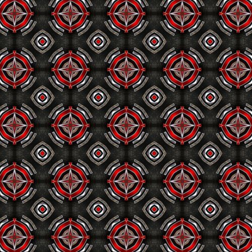 pattern black pattern red pattern