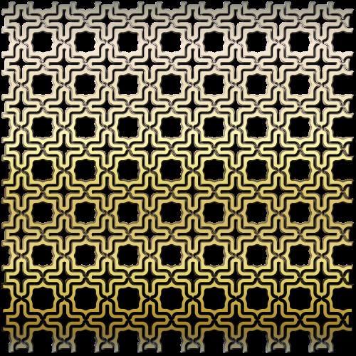 pattern brass grille metallic