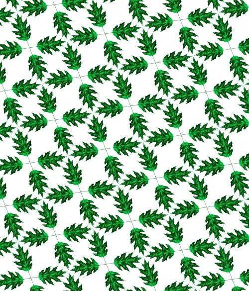 Pattern With Green Leaves