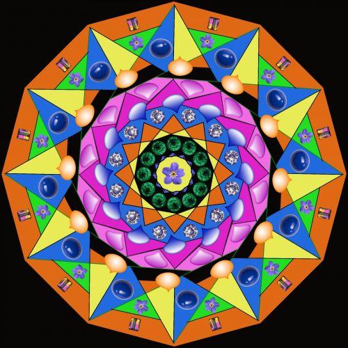 Patterned Mandala