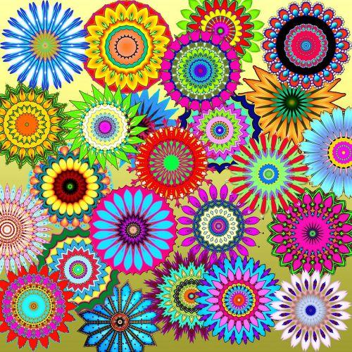patterns kaleidoscopes colorful