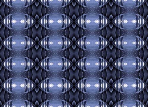 Patterns In Blue On Wallpaper