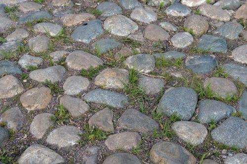 paved road cobblestones pavement