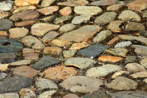 pavement  the stones  gravel road