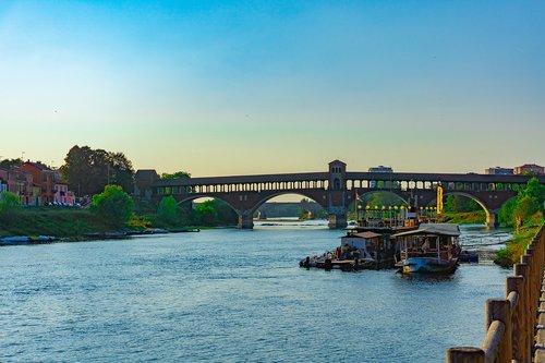 pavia  covered bridge of pavia  bridge of pavia