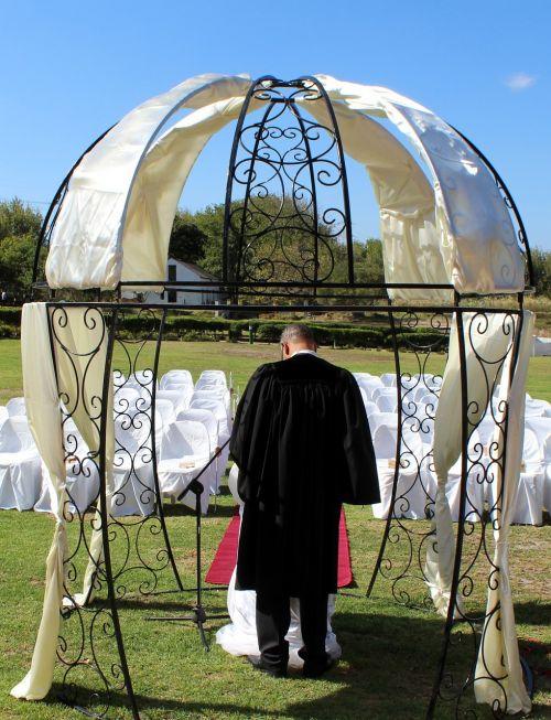 pavilion wedding pastor