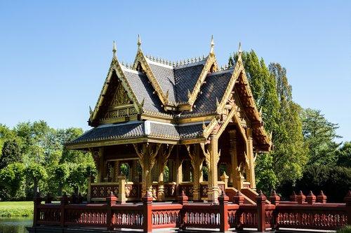 pavilion  buddist of the pavilion  architecture
