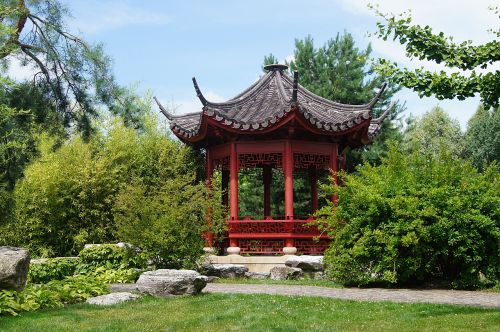 pavilion chinese green