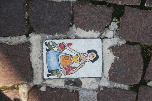 paving stone cobblestone painting dwarfs
