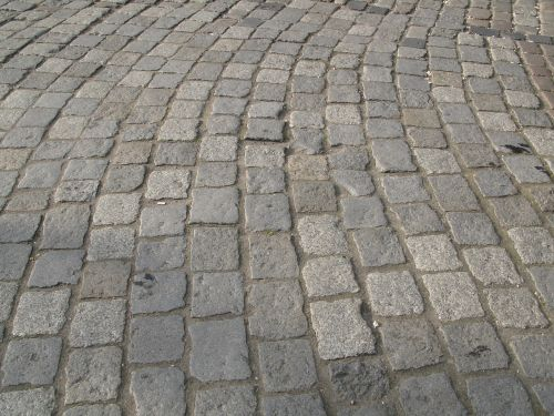 paving stone road architecture