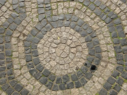 paving stones patch road