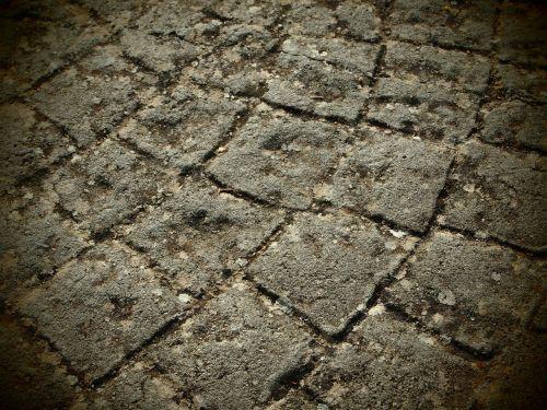 paving stones soil stepping on