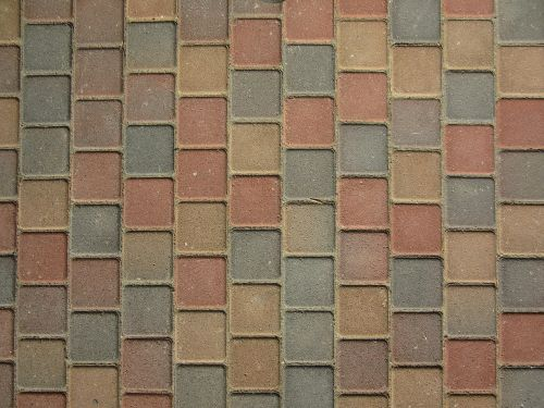 paving stones colorful patch