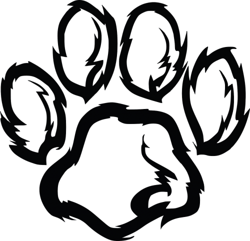 paw paw print dog