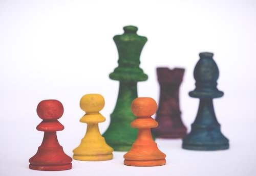 pawns  rainbow colors  colorful