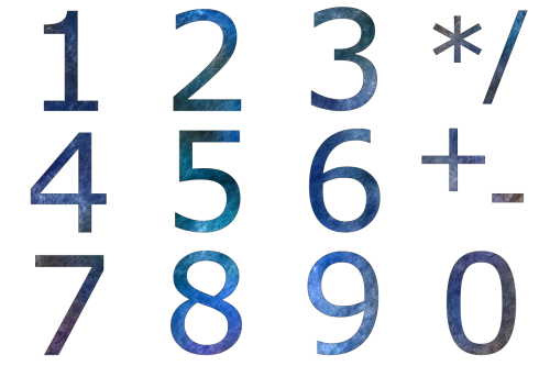 pay digits numeric keypad