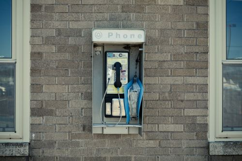 pay phone telephone booth booth