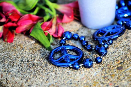 peace blue necklace