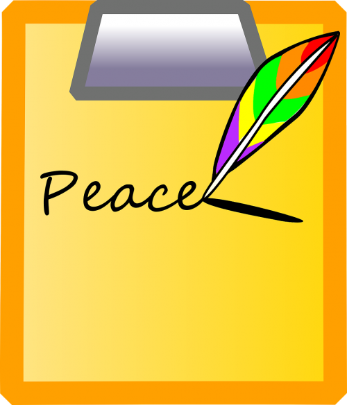 peace writing message