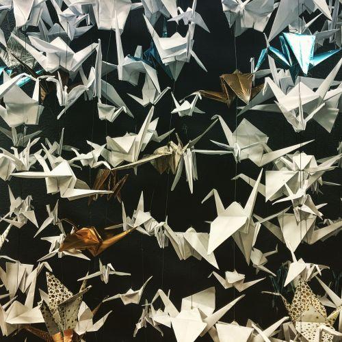 peace cranes origami paper folding