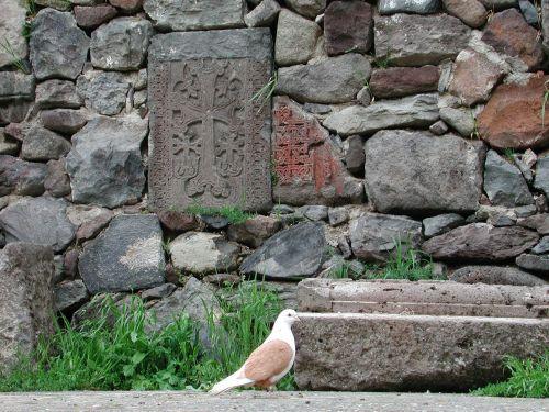 peace dove armenia stone cross