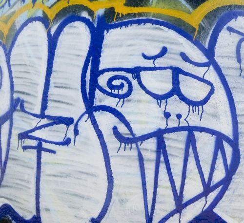 Peace Fingers Graffiti