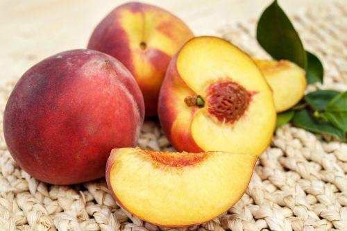 peach fruit red