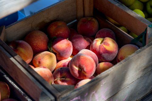 peaches crate fruit