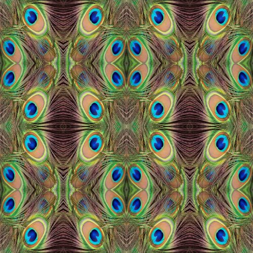 Peacock Feathers Abstract Wallpaper