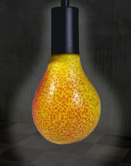 pear lamp holder surreal