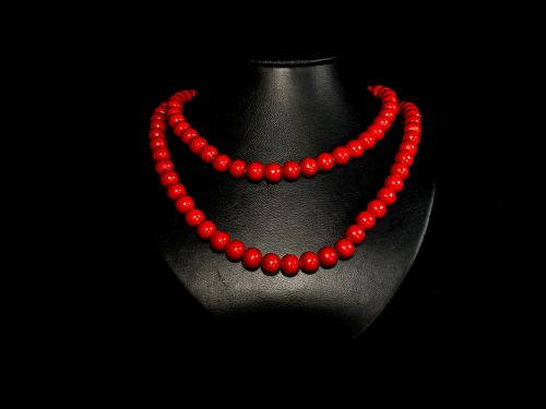 pearl necklace wood pearl necklace red jewellery