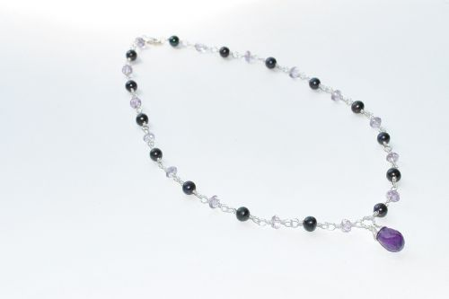 pearl necklace necklace black pearls