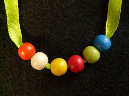 pearl necklace beads wood beads
