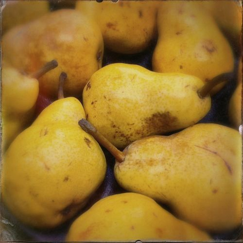 pears fruit yellow