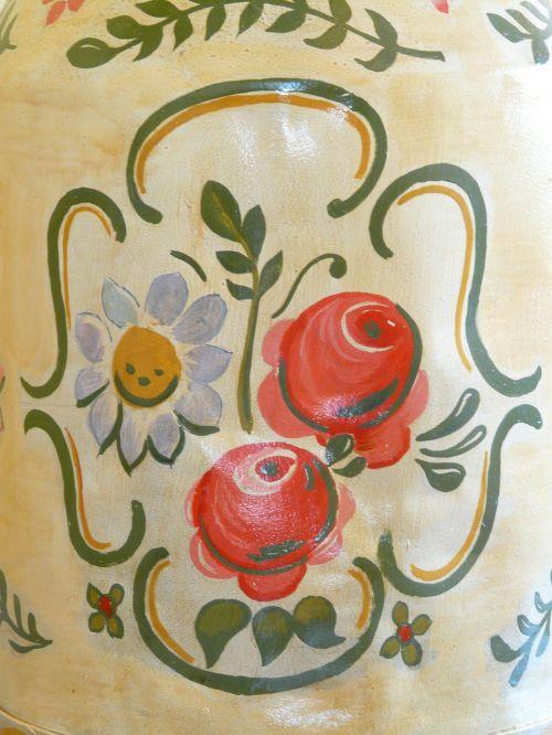 peasant art peasant painting flowers