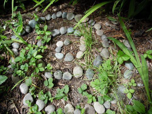 Pebble Spiral Garden Art