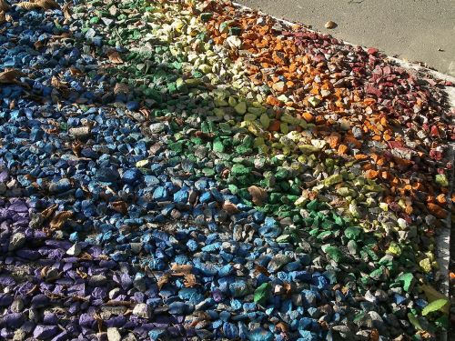 pebbles pattern rainbow