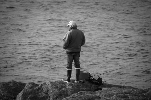 Fisherman At The Line