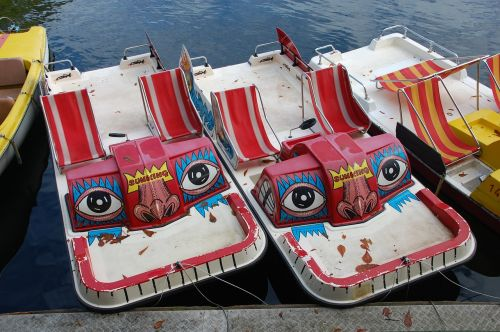 pedal boat boats face