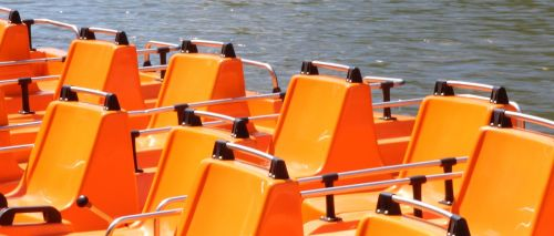 pedal boats orange sit