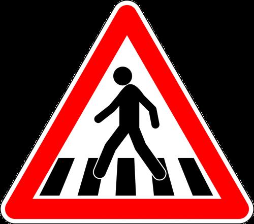pedestrian crossing traffic sign sign
