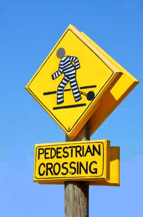 pedestrian crossing sign outdoors symbol