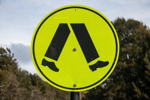 pedestrian crossing sign  traffic sign  pedestrian