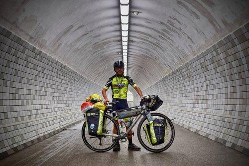 pedestrian tunnel  cyclists  bike
