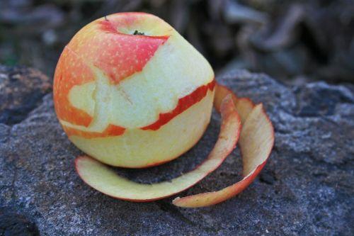 Peeled Apple With Peels