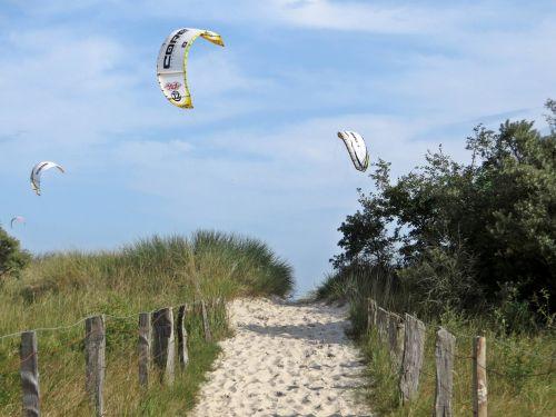 kitesurfer pelzerhaken beach